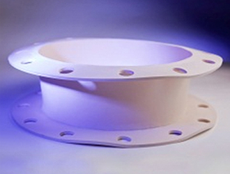 Hand Fabricated Rubber flanged connection FDA compliant